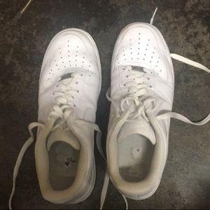White Nike Airforces
